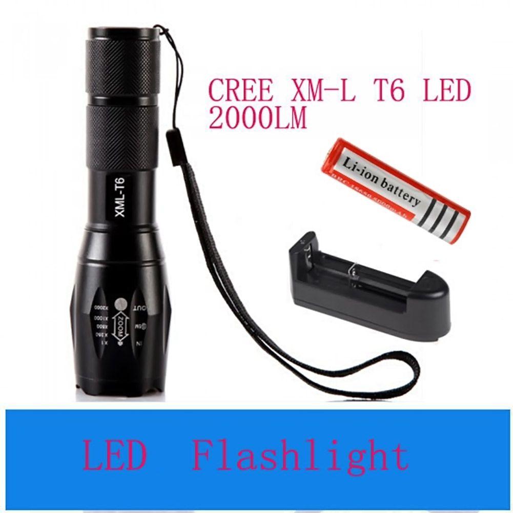 $9.52 (Buy here: https://alitems.com/g/1e8d114494ebda23ff8b16525dc3e8/?i=5&ulp=https%3A%2F%2Fwww.aliexpress.com%2Fitem%2F3000-lumens-LED-flashlight-CREE-XM-L-T6-flashlight-5Modes-Zoomable-torch-18650-5000mAh-rechargeable-battery%2F32749596312.html ) 3000 lumens LED flashlight CREE XM-L T6 flashlight 5Modes Zoomable torch+ 18650 5000mAh rechargeable battery + EU/US Charger for just $9.52