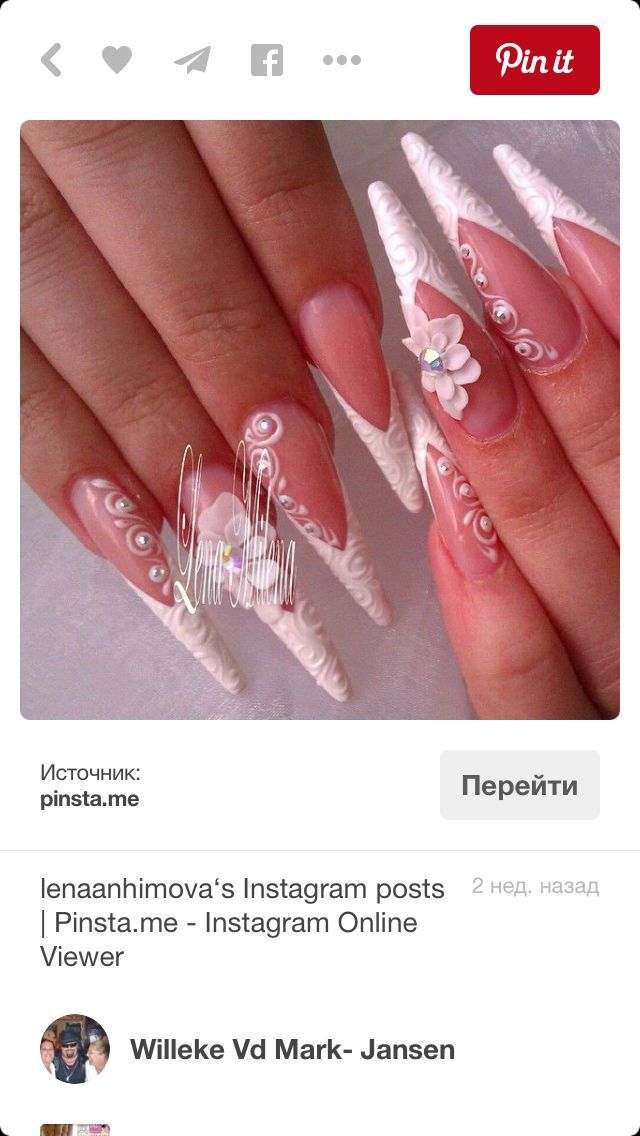 Pin by Taliyah👅 on Nail art | Pinterest | White nails and Nail salons