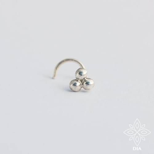 Photo of Silver Nose Stud Tiny ball nose stud Tragus studs Nose jewelry Tribal Nose Stud