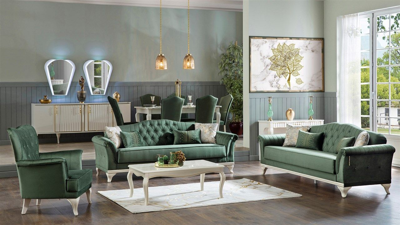 Koltuk Takimlari Sofa Set Green Sofa Hall Decor
