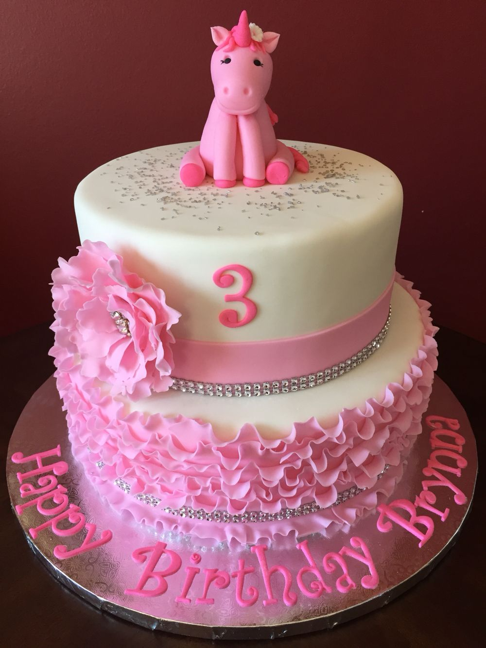 Pink Unicorn Birthday Cake Birthday Cakes Pinterest Birthday