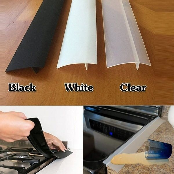 1pc Kitchen Silicone Stove Counter Gap Cover Filler Padding For