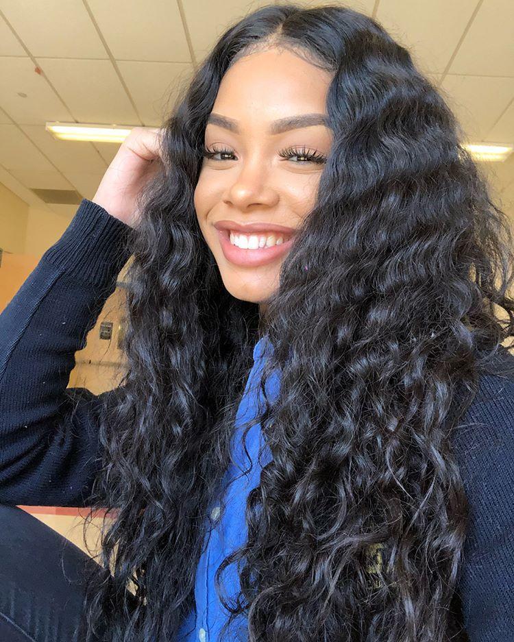 West Kiss 8a Grade Brazilian Loose Deep Wave Virgin Hair 3 Bundles Weave Hairstyles Hair Styles Short Bob Wigs