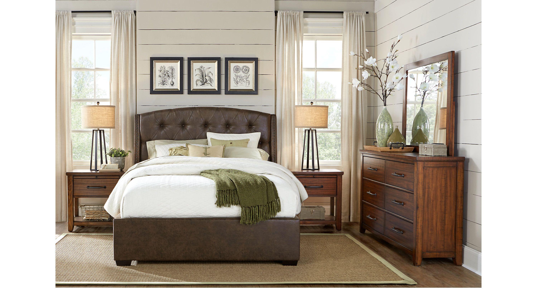 Urban Plains Brown 7 Pc King Upholstered Bedroom | King size ...
