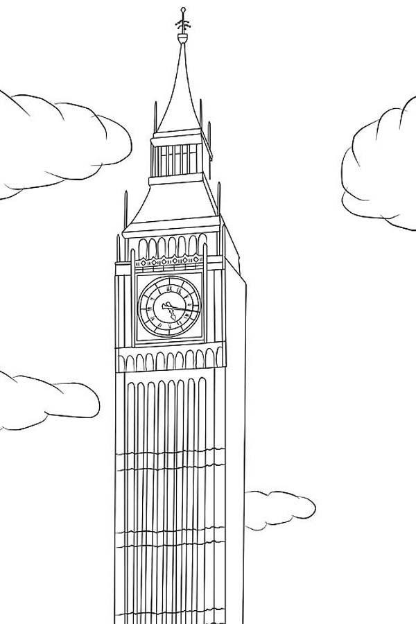 Big Ben Big Ben Is In London Coloring Page Big Ben Is In London