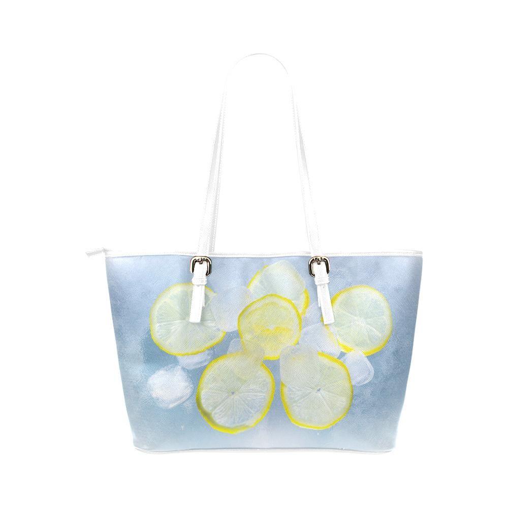Lemon and Ice Leather Tote Bag  0e64204c3f8a8