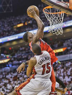 jimmy butler lay up or a dunk...not sure how this one ended