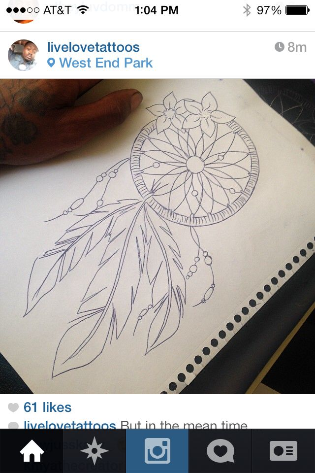 Dream catcher tatt!!!! Think about getting it on my thigh