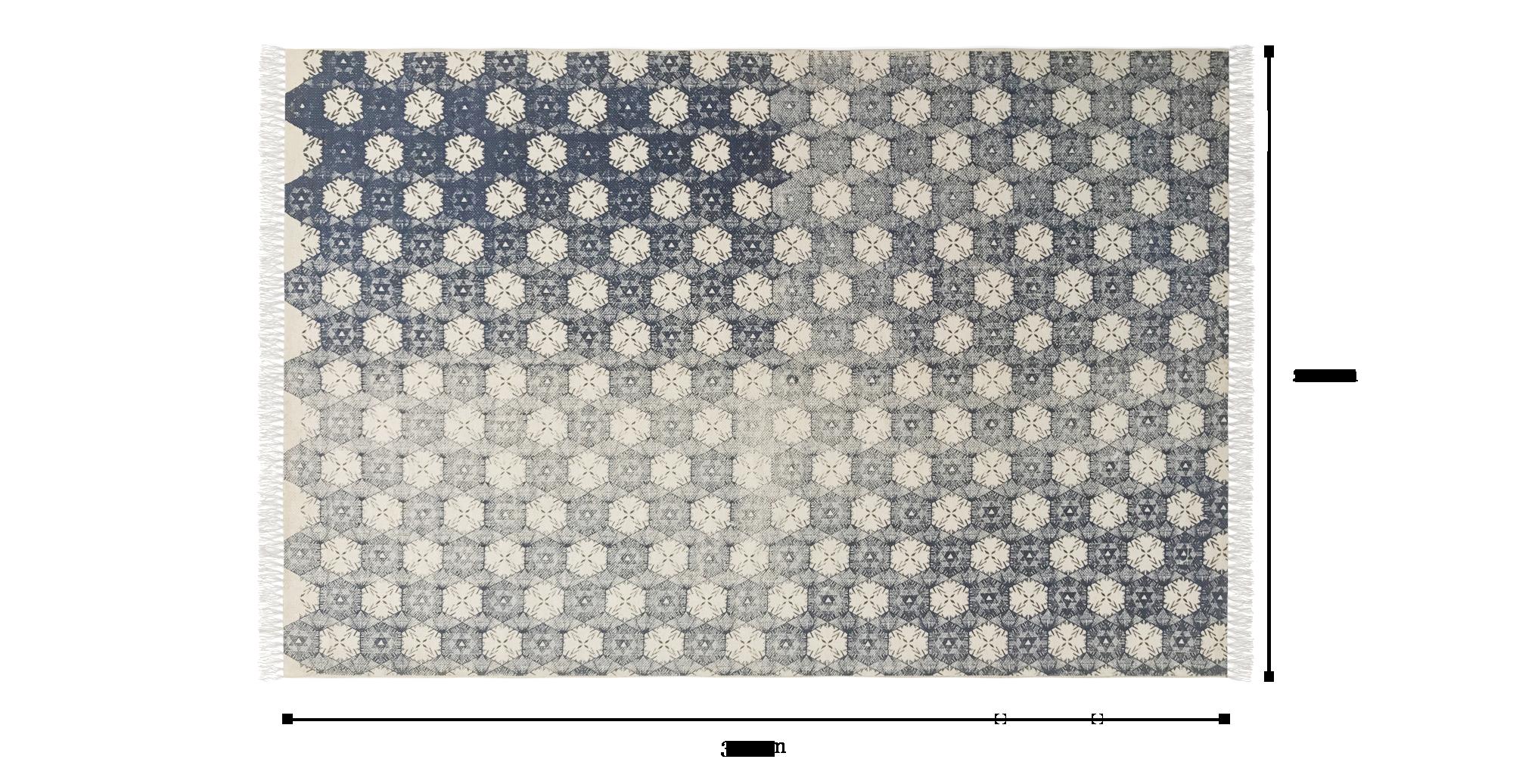 Boha Large Cotton Rug 200 X 300cm