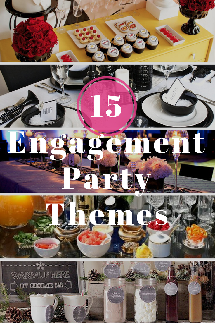 15 Engagement Party Themes by Envytations... great ideas #engagementparty