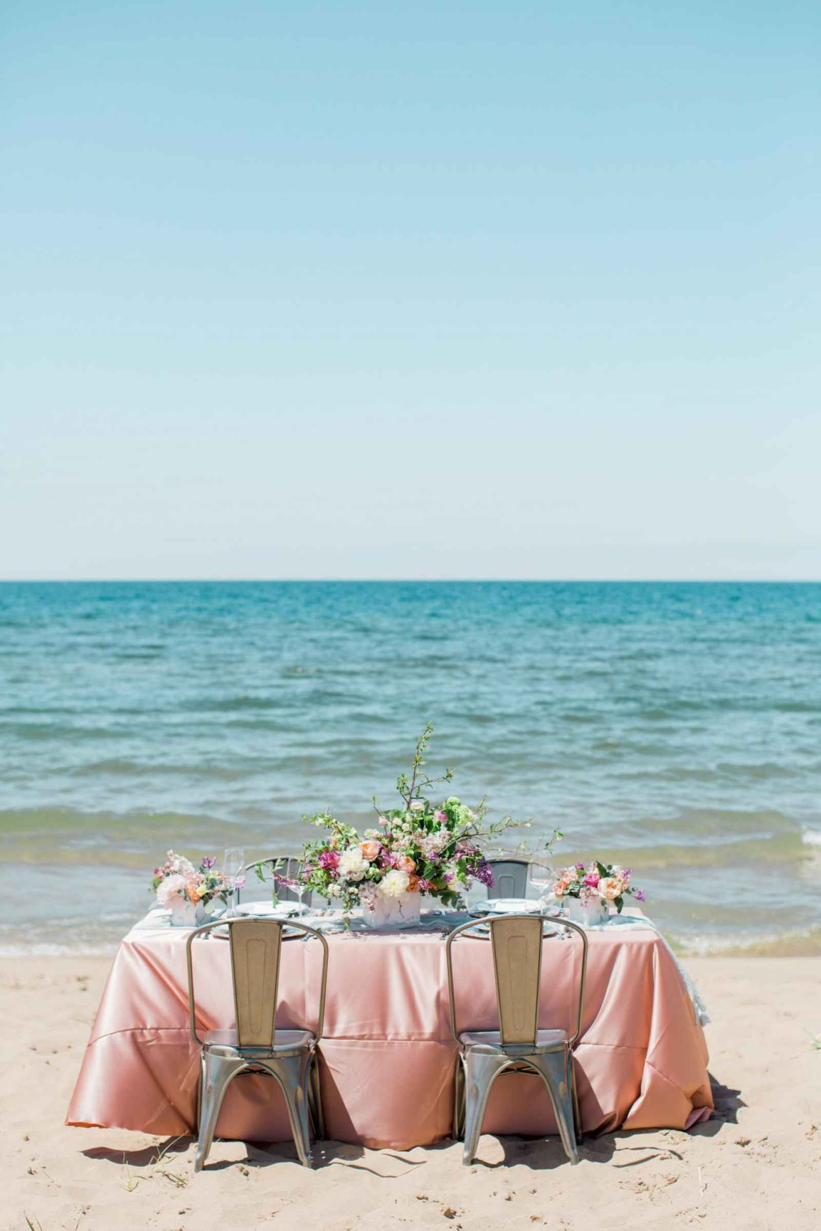 Beach Wedding Tablescape By The Water Love By The Shore A