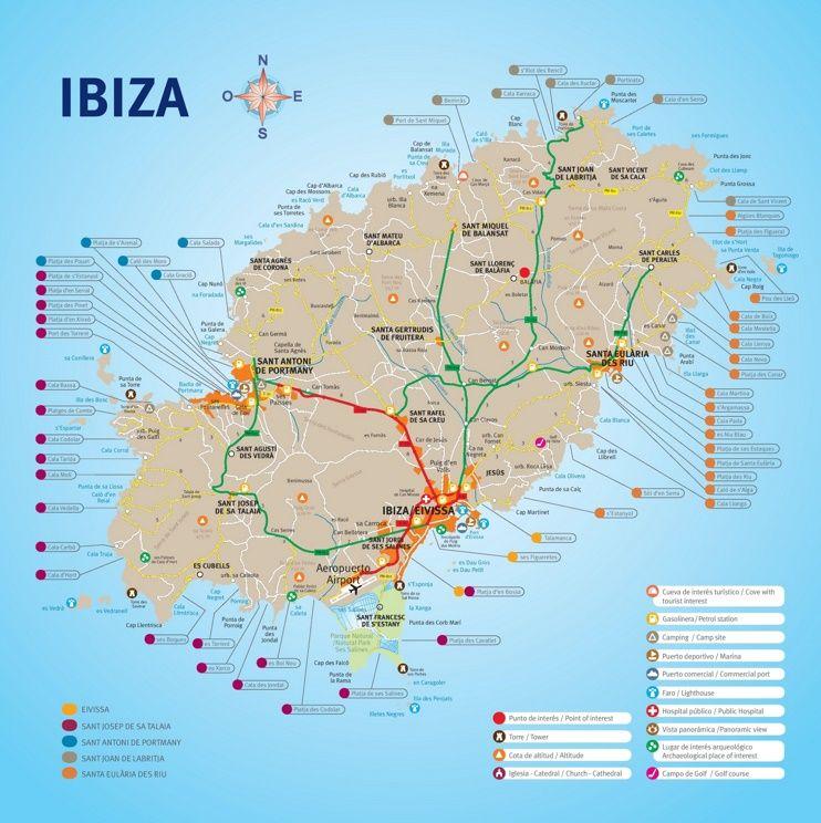 Ibiza resorts map Maps Pinterest Ibiza resorts Ibiza and Resorts