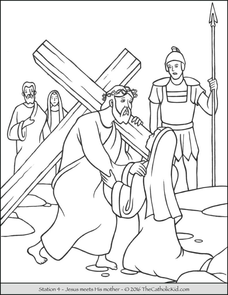 10++ Coloring sheet stations of the cross coloring pages info