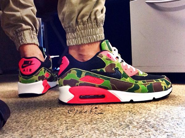 exclusive nike air max 90 atmos duck camo x infrared