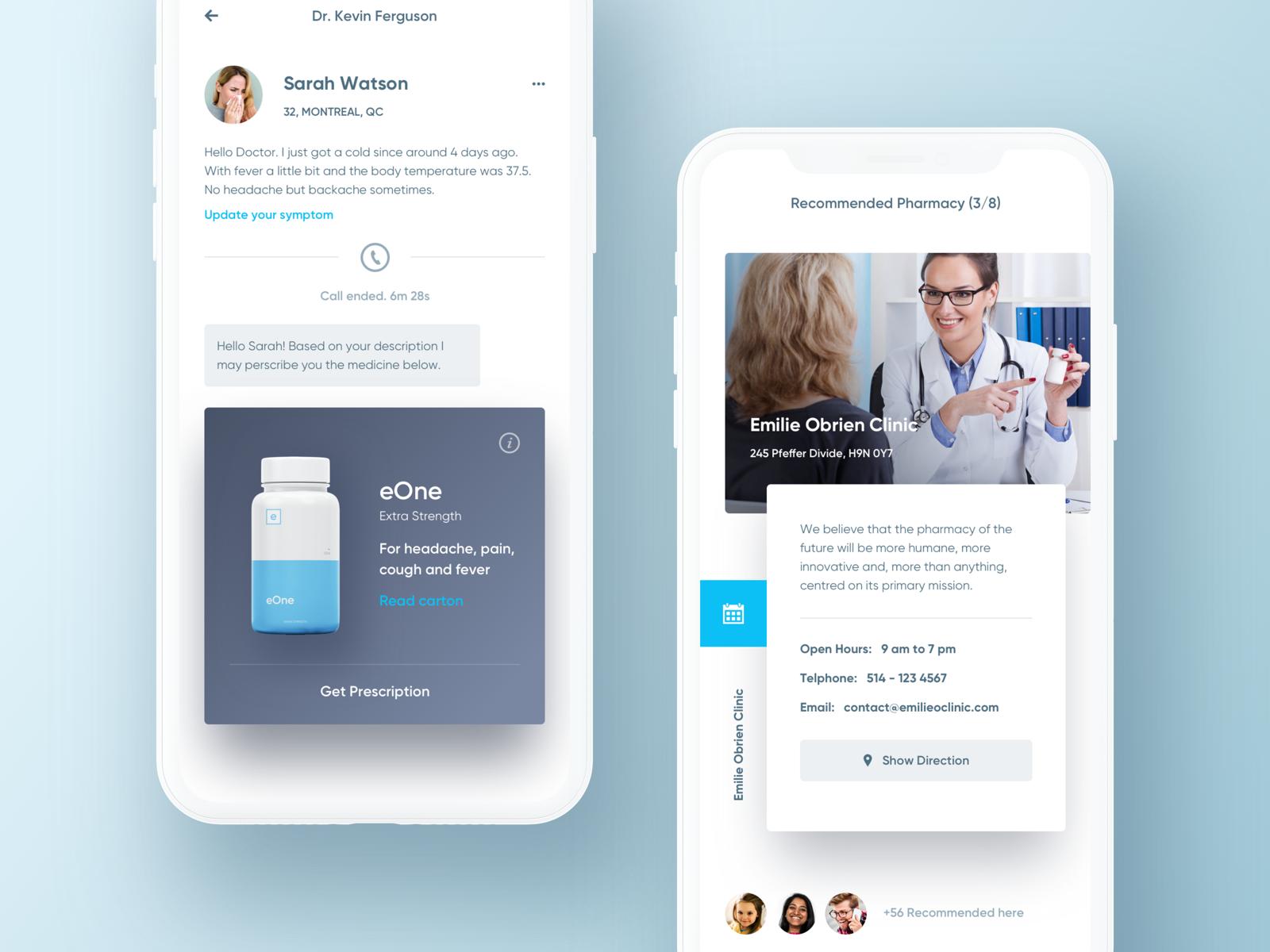 Online family doctor app. Health app, Family doctors