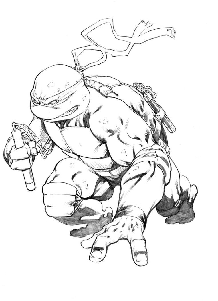 Michelangelo Tmnt Sketch By Robertatkins On Deviantart Ninja