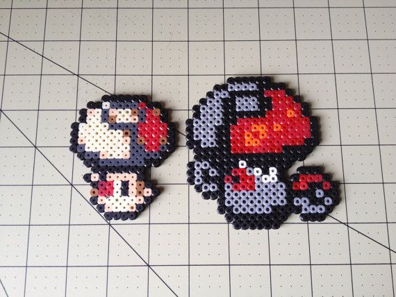Pokemon Bead Sprite Set  Foongus Family by ToughTurtles on Etsy, $5.50