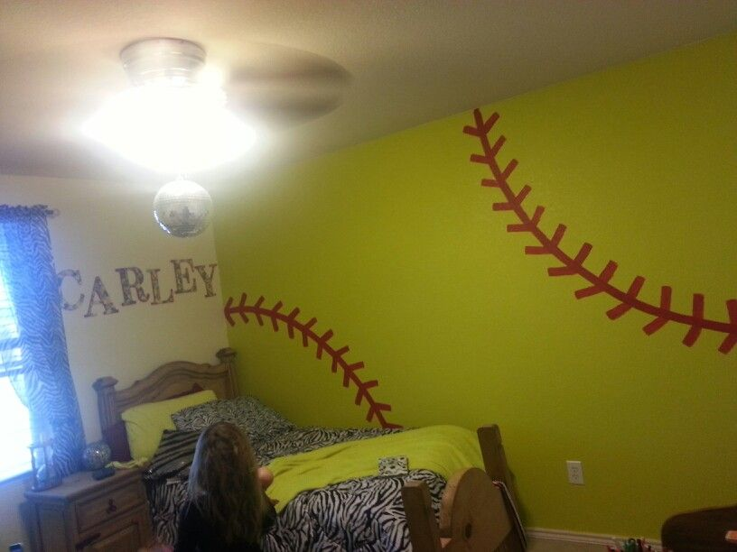 Softball Fun Stuff Pinterest Bedroom Room And Rhpinterest: Softball Bedroom Decor At Home Improvement Advice