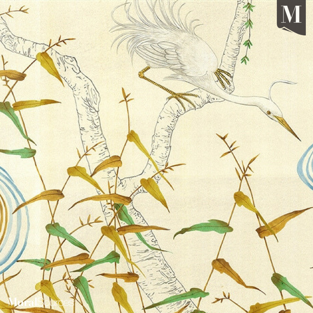 Kimono is a modern chinoiserie mural inspired by modern Art Deco ...