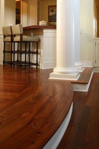 laminate flooring sunken living room best warm paint colors do your wood floor to the edge then and colums