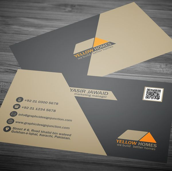 Real estate business card template psd pinterest real estate free business cards reheart Choice Image