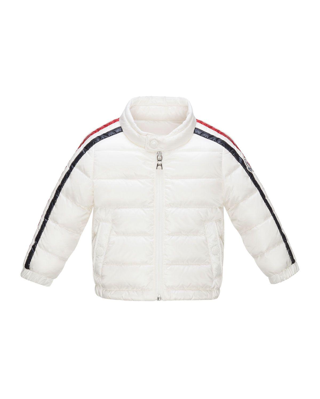 9a6e9f25f Zabelle Long Striped-Sleeve Puffer Jacket