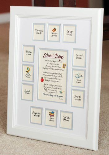 School Days Years Photo Picture Mat with White Frame 11x14 Blue ...