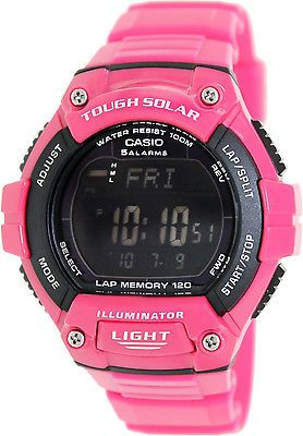 1138e8d36 Casio Men's Tough SOLAR 120 Lap Memory Sports LED Light Watch WS220C-4BV  New Relógio