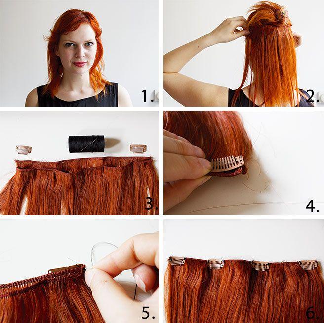 Lana Red Studio Diy Hair Extensions Part 1 Diy Pinterest