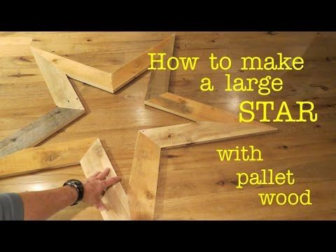 How To Make A STAR From Scrap Wood Pallet