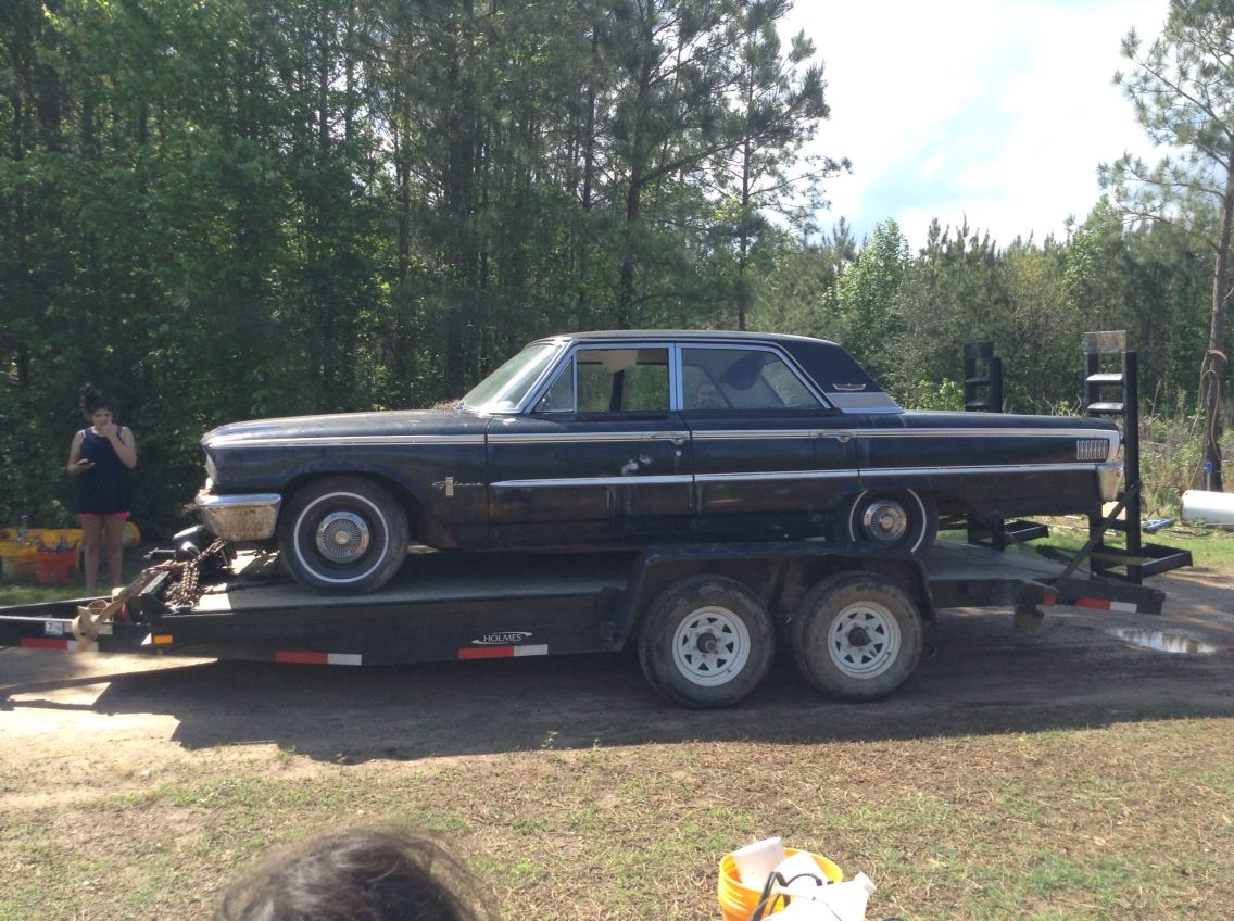My new car!!!! It\'s a \'64 Ford Galaxie!!!!! It\'s old and beat up ...