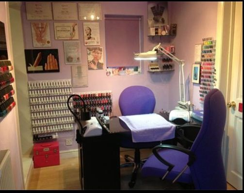 Nail technician room | home nail salon set up idea | nail technician ...