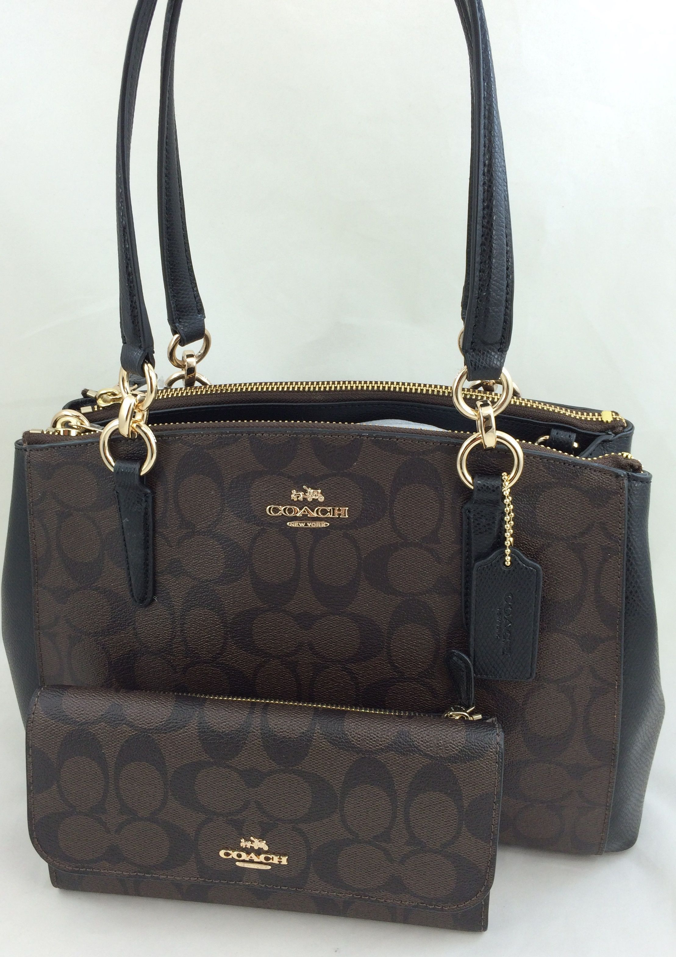 32accdf5ba3c store dark brown small coach purse 64dba a981c  discount code for new  authentic coach f36619 small christie carryall satchel shoulder bag in  signature pvc