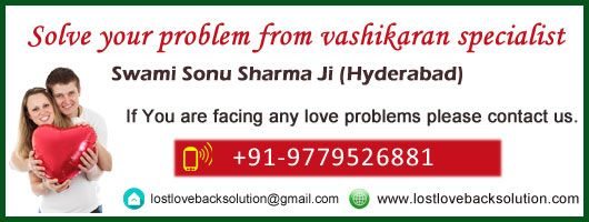 World famous Astrologer to get your love back in hyderabad