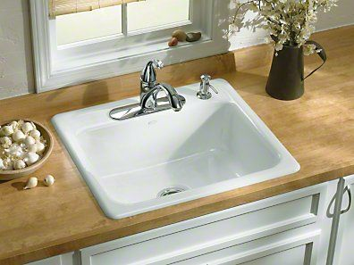 Kohler Mayfield Cast Iron Sink Kohler Kitchen Sink Drop In