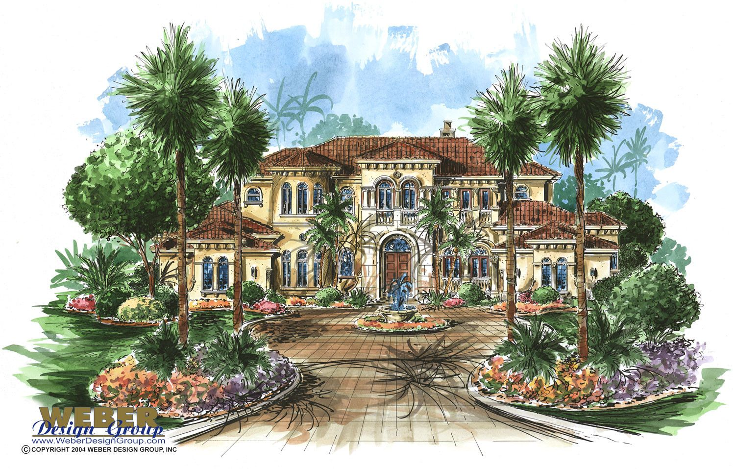 the tuscany house plan is a 5 bedroom elegant tuscan estate home