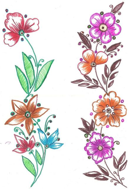 Mehndi Sketch Embroidery Painting Fabric Paint Designs Fabric