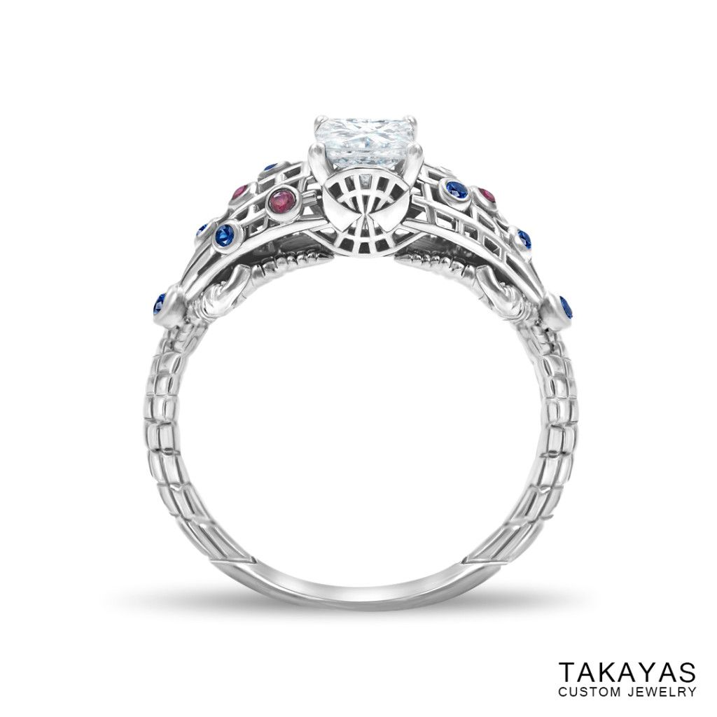 The Amazing Spider Man Inspired Engagement Ring Wedding Rings