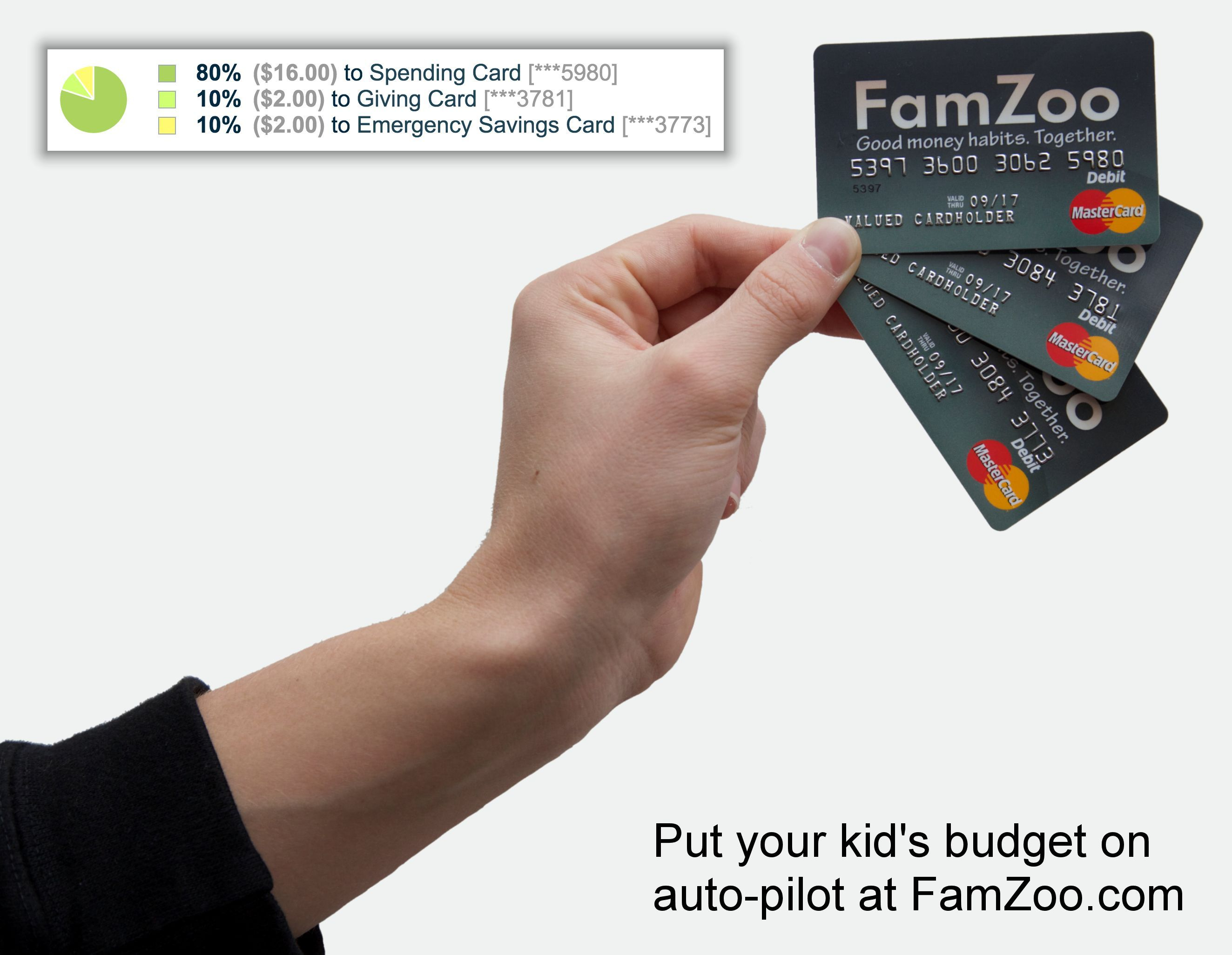Famzoos prepaid cards are a simple way to put your kids
