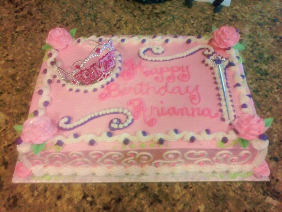 Princess Themed Birthday Sheet Cakes