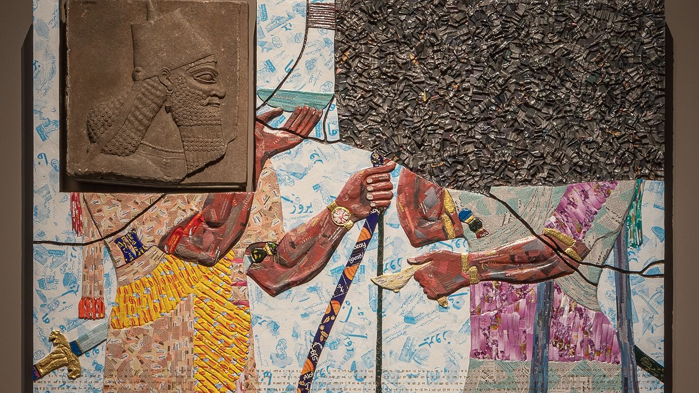 Artist Reimagines Ancient Middle Eastern Artifact In Vivid Color Eastern Art Artist American Artists