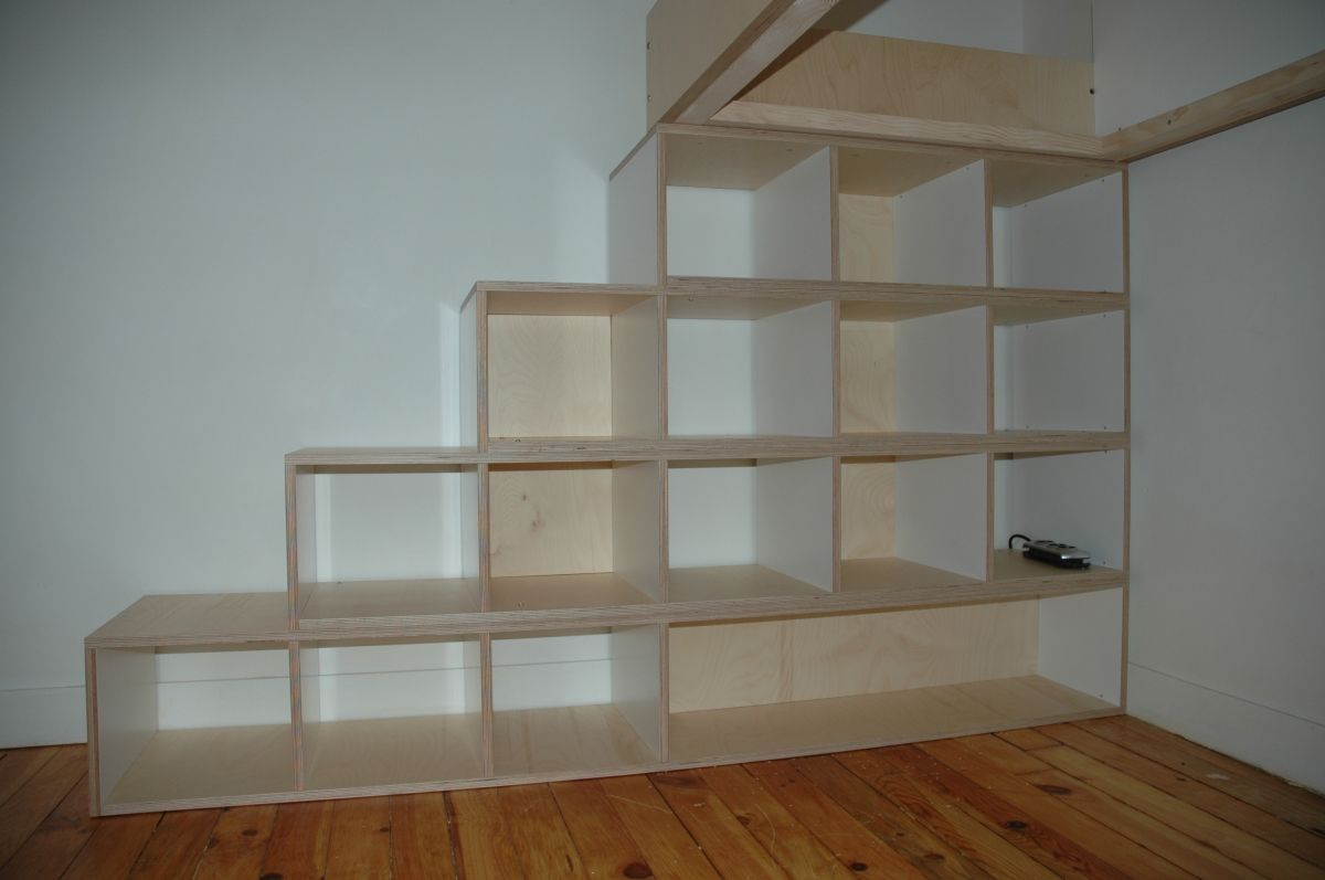 Lit Superposé Marche Escalier lit mezzanine sur mesure escalier en compartiment de