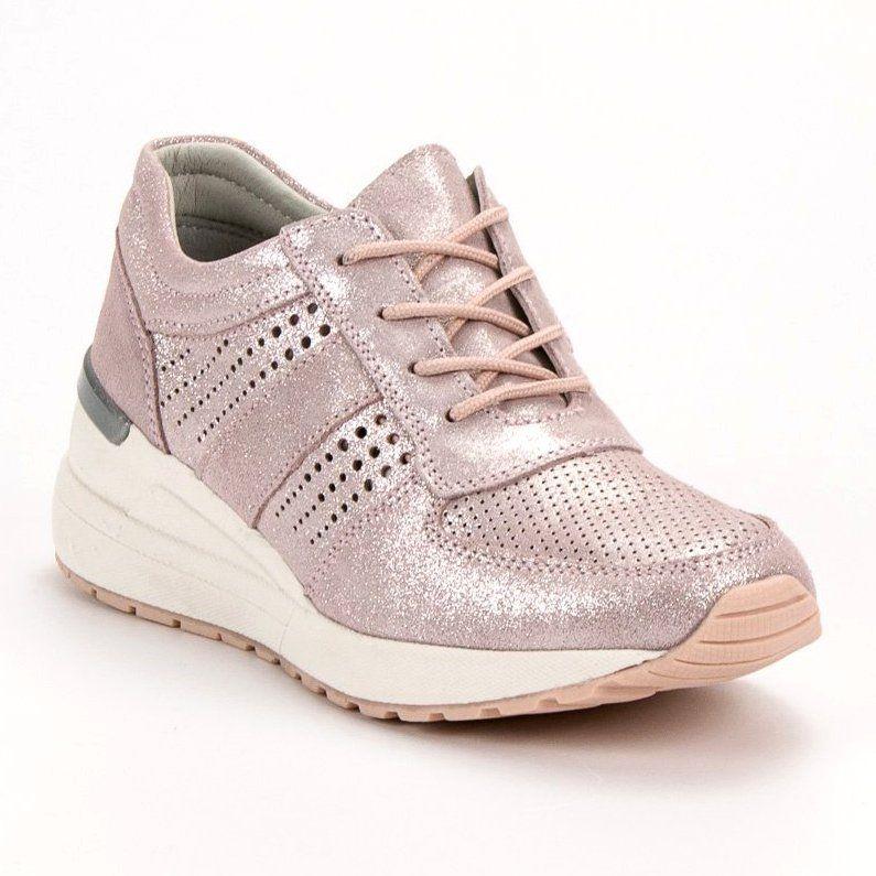Filippo Skorzane Sneakersy Na Koturnie Rozowe Adidas Sneakers Sneakers Adidas Tubular