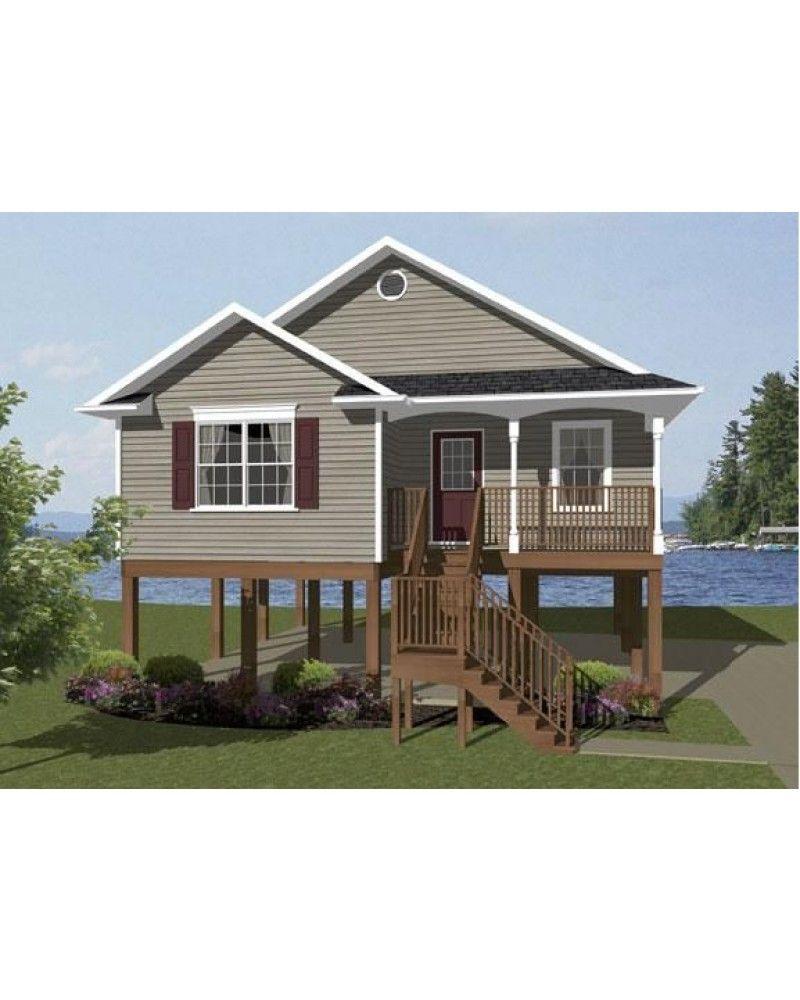 House Plan #vl856- - Beach Pilings