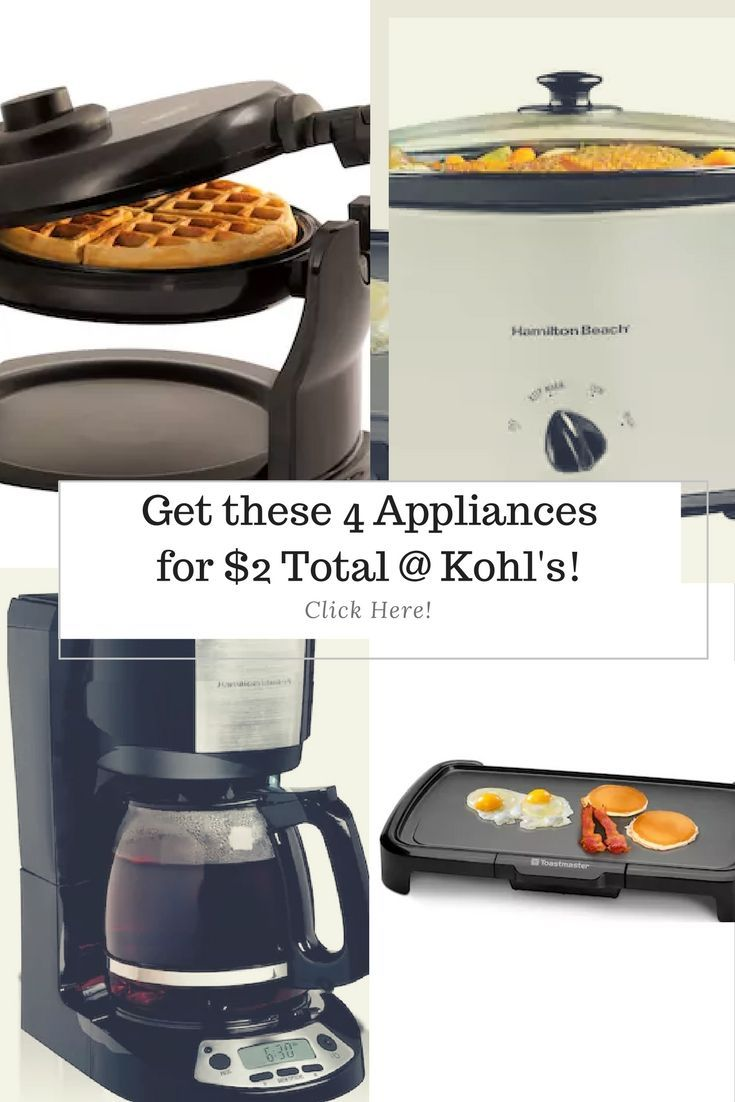 4 Appliances At Kohl S For Only 2 Here S How Kohls Coupons Coffee Maker Restaurant Recipes