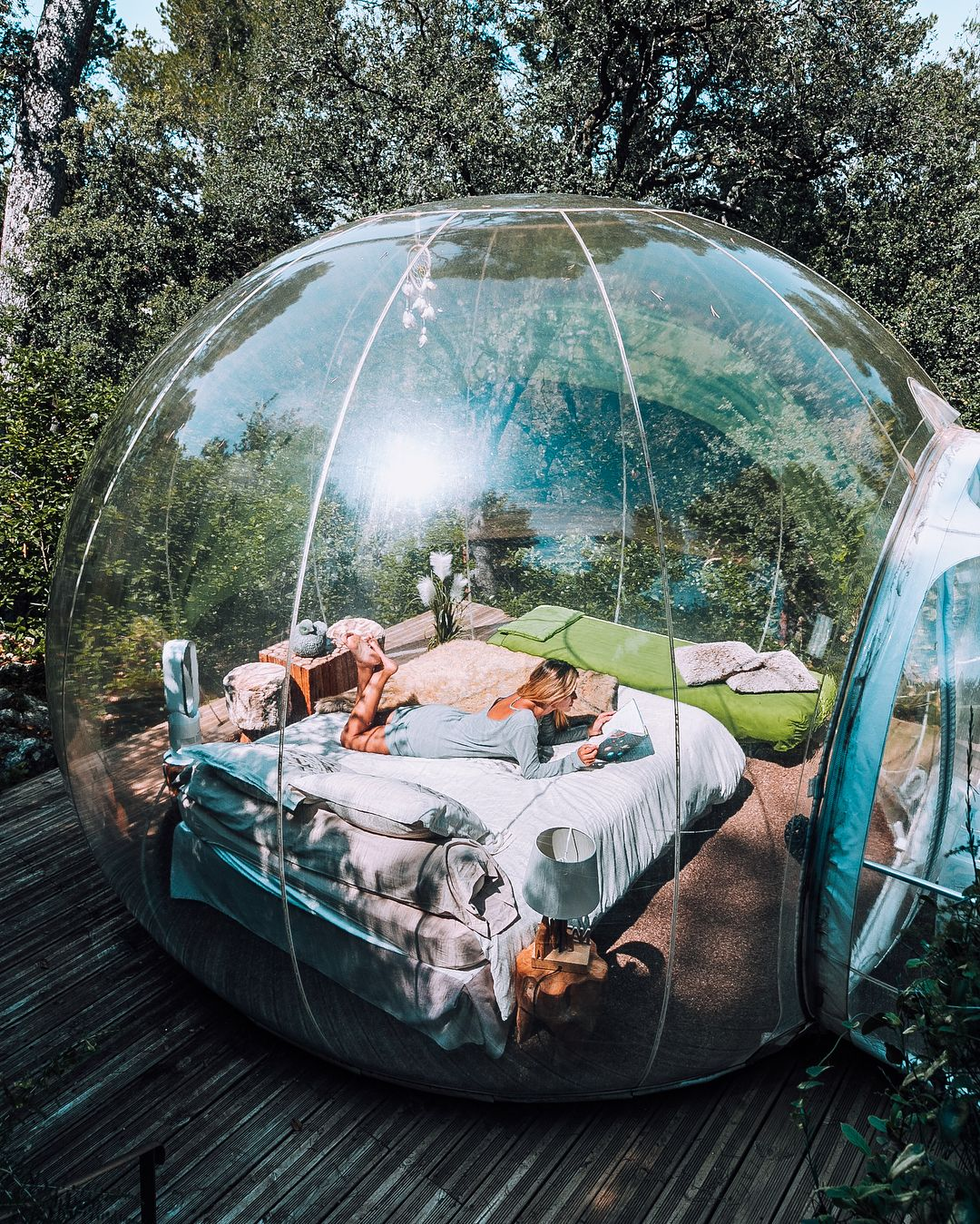Bubble Hotel Attrap Reves Allauch France Sleep In A Bubble Under The Stars Bubble Tent Sleepover Room Outdoor