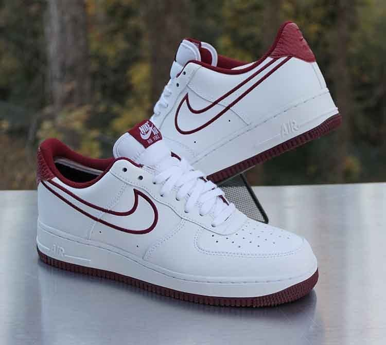 7482a16e7831f Nike Air Force 1 Low '07 Leather White Team Red AJ7280-100 Men's Size 8 # Nike #AthleticSneakers