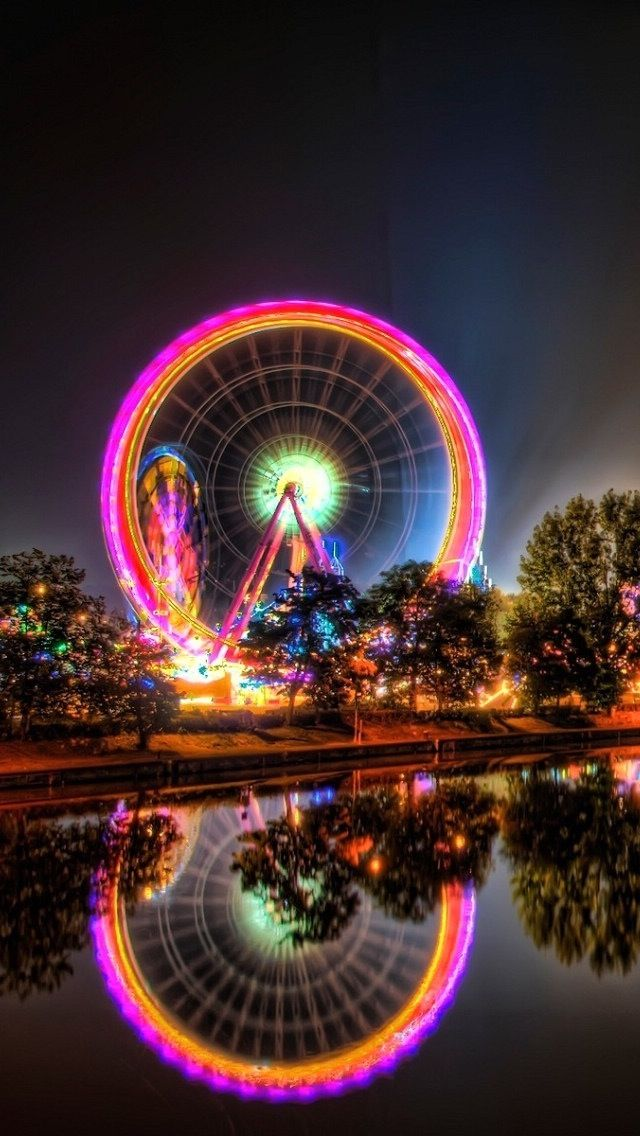 Carnival Ferris Wheel At Night Iphone 5c Wallpaper Retina Wallpaper Wallpaper