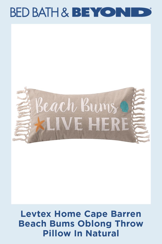Levtex Home Cape Barren Beach Bums Oblong Throw Pillow In Natural
