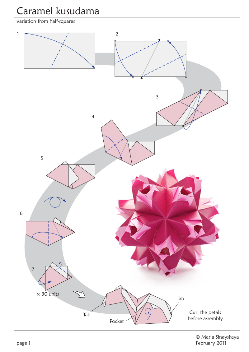 Kusudama Origami Flower Diagrams Schematic Wiring Diagram